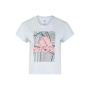ADIDAS PERFORMANCE Funkční tričko  světlemodrá / růžová