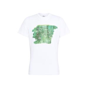 bleed clothing Tričko 'Schwamma'  bílá / nefritová / trávově zelená