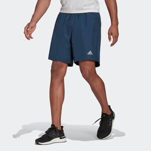 ADIDAS PERFORMANCE Sportovní kalhoty 'Run It'  bílá / námořnická modř