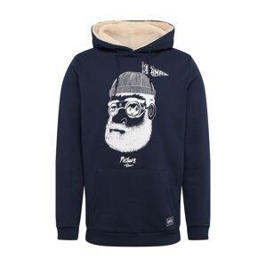 Picture Organic Clothing Sportovní mikina 'PINECLIFF'  tmavě modrá / bílá