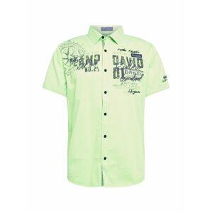 CAMP DAVID Košile  světle zelená / černá
