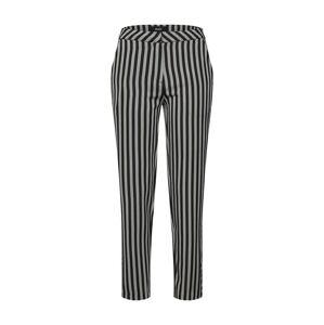 OBJECT Kalhoty 'OBJFILINA HW PANT A BSFD'  černá / stříbrná