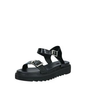 ONLY Páskové sandály 'Malu'  černá