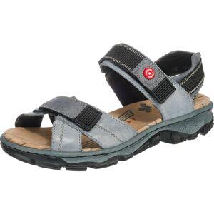 RIEKER Trekingové sandály  chladná modrá / černá