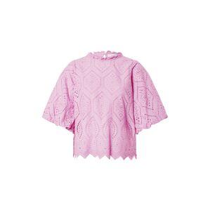 Neo Noir Halenka 'Riko Embroidery Blouse'  magenta