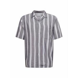 Carhartt WIP Košile 'Chester'  tmavě šedá / bílá