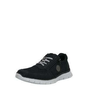RIEKER Sportovní šněrovací boty  černá