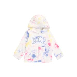 GAP Mikina s kapucí 'ARCH'  bílá / modrá / pink / žlutá