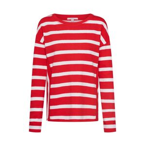 ESPRIT Tričko 'NOOS Stripe Top'  červená / bílá