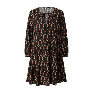 ONLY Košilové šaty 'SPELL'  pastelově oranžová / černá / rezavě hnědá