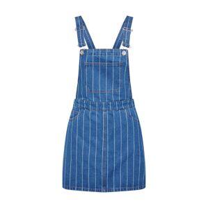 ONLY Laclová sukně 'onyDINA HW MB STRIPE SPENCER DNM'  modrá džínovina / bílá