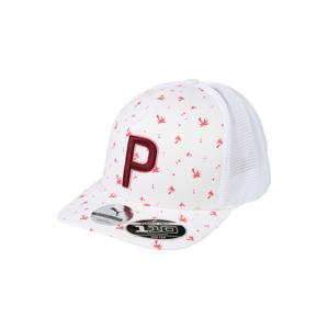 PUMA Sportovní čepice  bílá / červená