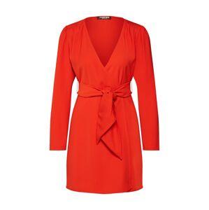 Fashion Union Košilové šaty 'Alina'  oranžově červená