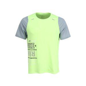 NIKE Funkční tričko 'Rise 365 Wild Run'  šedá / svítivě zelená