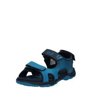 JACK WOLFSKIN Otevřená obuv 'Puno Bay'  černá / modrá