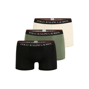 POLO RALPH LAUREN Boxerky  černá / zelená / béžová / bílá