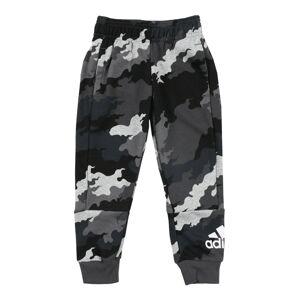 ADIDAS PERFORMANCE Sportovní kalhoty  černá / šedá / bílá