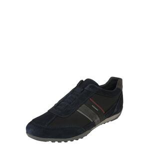 GEOX Slip on boty 'WELLS'  námořnická modř / burgundská červeň