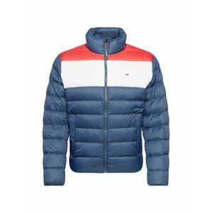 Tommy Jeans Zimní bunda  červená / bílá / modrá