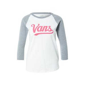 VANS Tričko  bílá / nebeská modř / pink