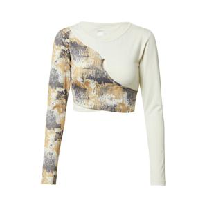 Hummel Funkční tričko  béžová / šedá
