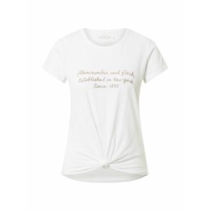 Abercrombie & Fitch Tričko  bílá / béžová