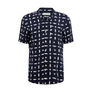 Casual Friday Košile 'Anton Cuba'  bílá / námořnická modř
