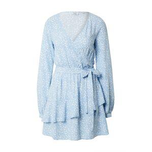 NA-KD Košilové šaty 'Pamela'  bílá / světlemodrá
