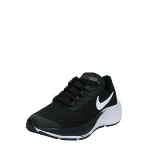 NIKE Sportovní boty ' Air Zoom Pegasus 37 '  černá / bílá