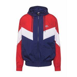 Nike Sportswear Přechodná bunda  bílá / červená / marine modrá