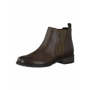 MARCO TOZZI Chelsea boty  tmavě hnědá