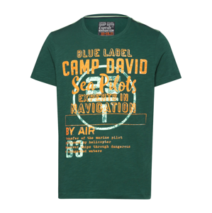 CAMP DAVID Tričko  zelená / oranžová / světle zelená