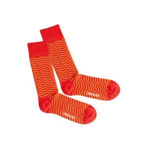 DillySocks Ponožky 'Square Sunset'  červená / žlutá / oranžová