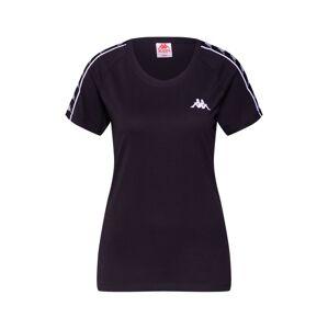 KAPPA Tričko  černá / bílá