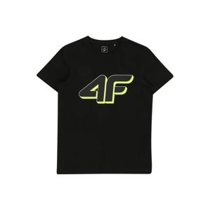 4F Funkční tričko  černá / limetková