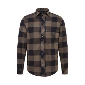 G-Star RAW Košile  tmavě šedá / černá