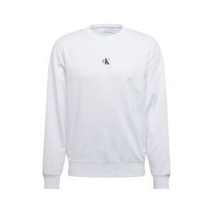 Calvin Klein Jeans Mikina  bílá