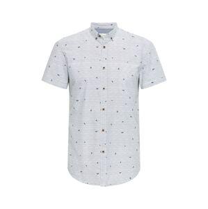 TOM TAILOR DENIM Košile  bílá / modrá