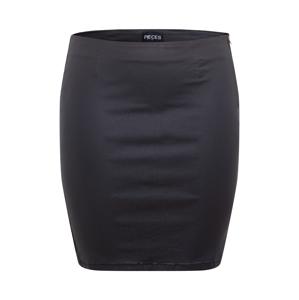 PIECES Curve Sukně 'PARO'  černá