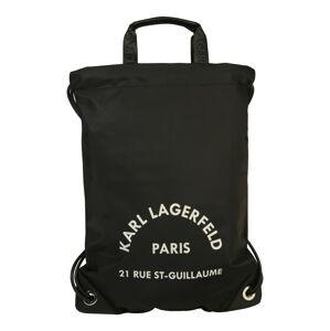 Karl Lagerfeld Sportovní vak 'rue st guillaume flat'  bílá / černá