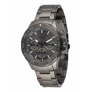 FOSSIL Analogové hodinky 'Bannon'  stříbrně šedá