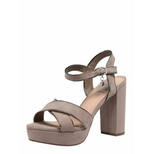 Xti Páskové sandály  šedobéžová