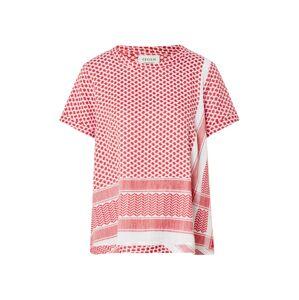 Cecilie Copenhagen Tričko ' O SS'  bílá / červená