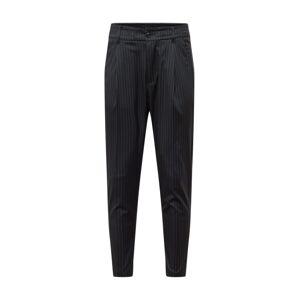 DRYKORN Kalhoty se sklady v pase 'Chasy'  bílá / černá