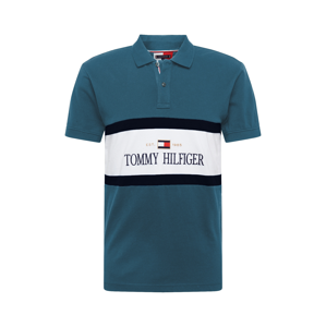 TOMMY HILFIGER Tričko  pastelová modrá / bílá / tmavě modrá