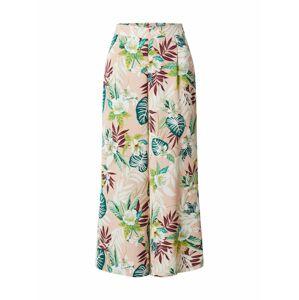 ONLY Kalhoty se sklady v pase  starorůžová / mix barev