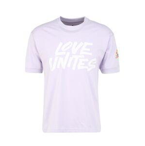 ADIDAS PERFORMANCE Funkční tričko 'Pride Unites'  bílá / šeříková