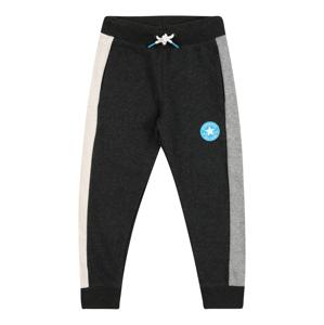CONVERSE Kalhoty  černá / šedý melír / béžová