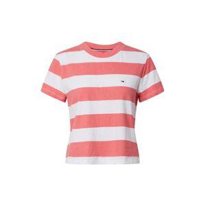 Tommy Jeans Tričko  bílá / pink