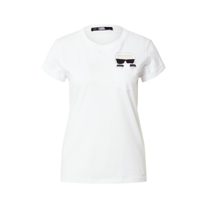Karl Lagerfeld Tričko  bílá / černá